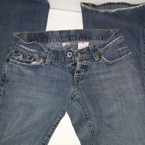 Lucky brand button fly Dungeree Jean's